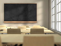 The inside of an empty classroom